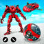 Red Ball Robot Car Transform: Flying Car Games